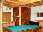 Game room for the young or young at heart!  Pool, Foosball and Darts!