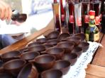 Ginja, Obidos' cherry liquor in a chocolate cup.