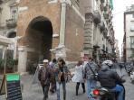 Via Tribunali, just 200 meters from the 'Studio Atri'