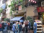 'Pizzeria Sorbillo' on the corner down Via Atri (one of the best pizza in Napoli)