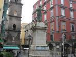 Piazza S. Gaetano in front of Via S. Gragorio Armeno (the pastors street), 400 m. far
