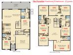 Floor plan with beds