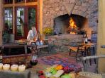 Enjoy the outside fire place while connecting with friends and family.