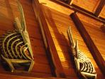 Adventure villa is decorated with African art and St Johnians paintings