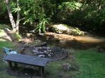 Fire Pit right on the creek!