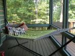 Hammock on Screen Porch off Living Room