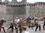 Medeviel reenactment at the Castle during the Summer with live fun performance from the soldiers!