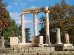 Olympia, birthplace of the Olympic Games, included in the  UNESCO World Heritage List (53km)
