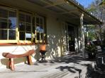 Outside view of the studio and deck.