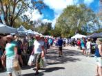 Lakes Park farmers market every Friday is less than 10 minutes drive away.