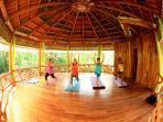Yoga gazebo with daily lessons