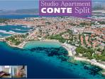 Apartment Conte is ideal for tour and holiday in Split suitable for all tourists ..... close to the