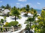 We are situated on a pristine white sand beach