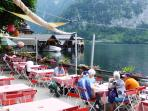 Lakeside dining at Hallstatt nearby
