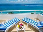 ocean front master bedroom balcony, you cannot beat this view!