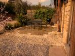Garden seating area and BBQ