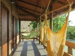 On the 2nd level - swings & hammocks to enjoy the view!