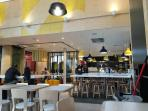 Inside of the new McDonald, great for Breakfast/Lunch/Dinner!