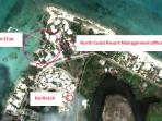 Kai Kotch is beachfront on the bioluminescent cove, short walk to Rum Point Club & property manager.