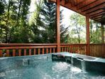 Hot tub on a crisp cool morning