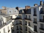 view from the studio on the roof of Paris : very romantic !!!