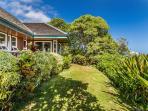 Niulani Beachfront Home Front Lawn