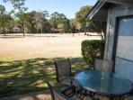 view of Fazio golf course from patio