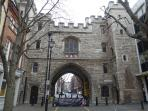 Medieval St John's Gate on Clerkenwell Rd is 5 minutes walk from house.