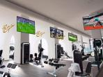 Spinning centre, tennis courts and gym just next door