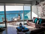 Sea View from  terrace and living room area