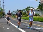 Ironman 2015 run, in front of our condo, 26.2 miles.