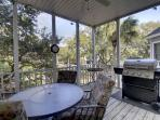 Screen Porch Outdoor Living, Gas Grill