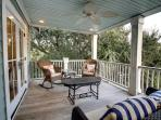 Enjoy a Meal or Snack on the Spacious Deck