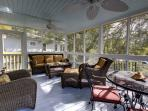 Enjoy the Evening Breezes on the Screened Porch