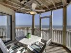 Relax on the screened in porch