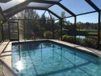 south facing and heated pool