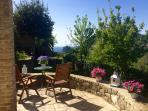 view from the Sapphire terrace to the garden and the sea