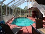 The largest screen-in pool and deck on North Captiva Island.  3200 sq. feet of screened in living.