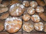 A selection of home baked artisan breads