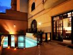 Your private pool in this luxury villa in the centre of the Red City