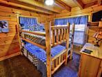 Queen over queen bunk beds!
