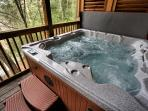 Jacuzzi on game room deck.