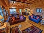 Open floor plan makes Bigfoot Crossing perfect for family and friends.