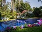 Crystal clear swimming pool. Enjoy the perfect weather of Cuernavaca. Cuernavaca Home rentals.