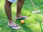 Some activities like croquet