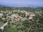 Panoramic view of Kavallos village