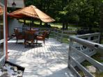 Patio..Seats/Dual Gas ,Charcoal Grill