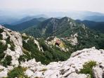 Risnjak Peak @ 1528m enjoyed by many walkers and climbers  seen from our door step