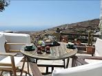 Breakfast with stunning Aegean view.
