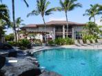 Villa Overlooks Waikoloa Colony Villas Lava Rock Waterfall, Palm-Ringed Pool.